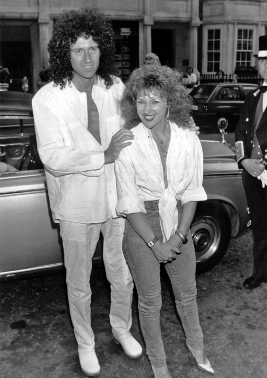 Brian May and Anita Dobson at the launch of their single 'Talking of Love', London, 7th July 1987.