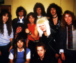 Brian May, Jimmy Page, Bad news & Iron Maiden backstage at Hammersmith Odeon