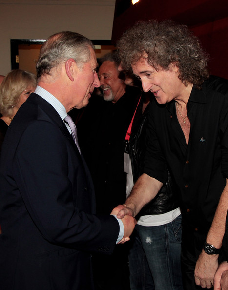 Brian May Backstage Prince Trust Rock Gala 2010