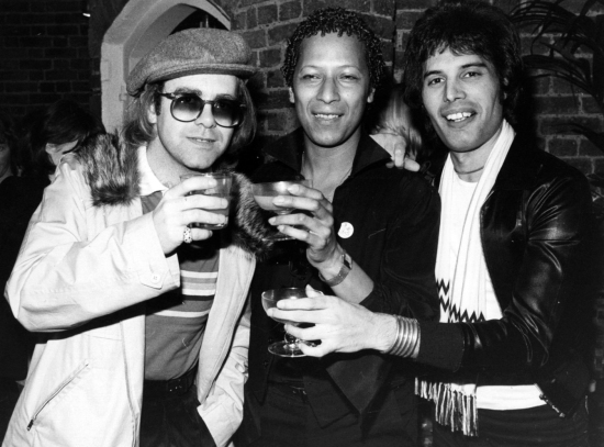 Elton John, Peter Straker and Freddie Mercury