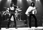 Freddie and Brian on stage in 1975