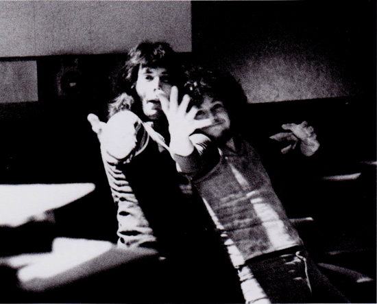 Freddie and Louie Austin in control room 3 at De Lane Lea Studios; September '71