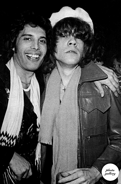 Freddie Mercury and David Johansen