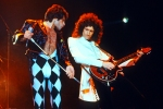 Freddie Mercury and Brian May in 1977