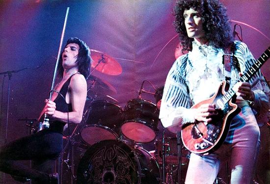 Freddie Mercury and Brian May Photo