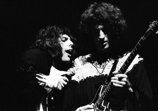 Freddie Mercury and Brian May