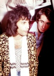 Freddie Mercury and John Reid (Queen's manager)