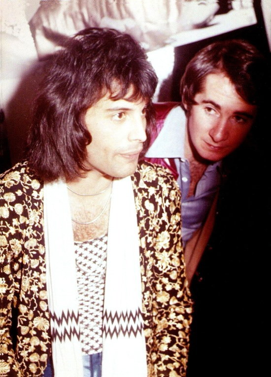 Freddie Mercury and John Reid (Queen's manager)