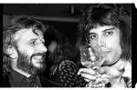 Freddie Mercury and Ringo Starr in 1975, Photo by Dan McGrath
