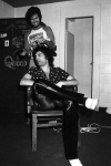 Freddie Mercury backstage at the Montreal Forum, 26th January 1977