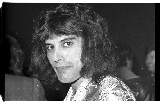 Freddie Mercury in 1975, Photo by Dan McGrath