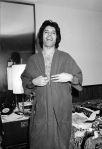 Freddie Mercury in a bedroom during a tour, circa 1977 (4)