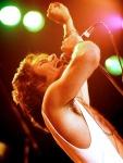 Freddie Mercury on stage in 70's