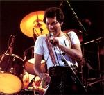 Freddie Mercury performing on concert, 1979