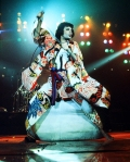 Freddie Mercury - The King Of Queen. Photographed on the USA Tour in January - March 1977 by Michael Ochs.