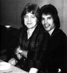 Freddie Mercury with David Minns (his partner in late 70's)