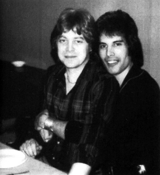 Freddie Mercury with David Minns (his partner in late 70's)