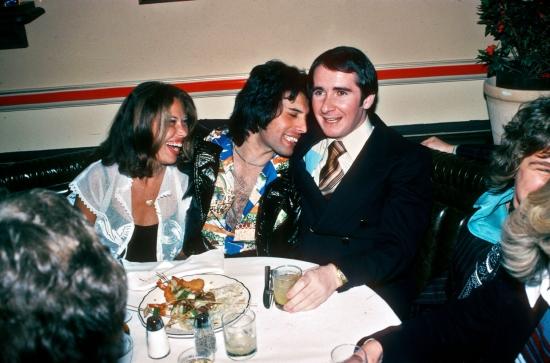 Freddie Mercury with John Reid