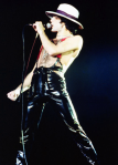Freddie on stage in late 70's