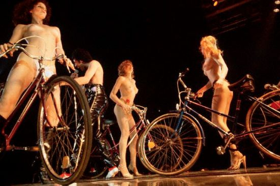 Naked Bicyclists Performing at Queen Concert