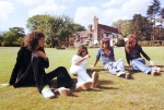 In the grounds of Ridge Farm while rehearsing songs for 'A Night At The Opera' in summer 1975.