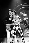 John Deacon and Freddie Mercury in 1977