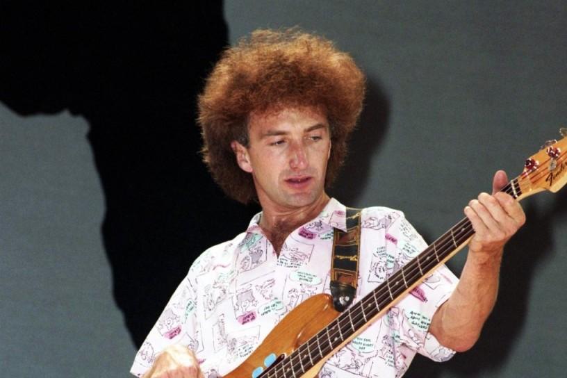 John Deacon at Live Aid, 1985