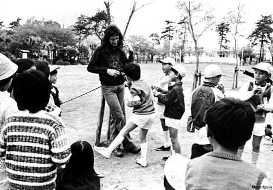 John Deacon in Japan 1975