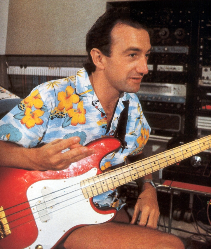 John Deacon in studio, 1986