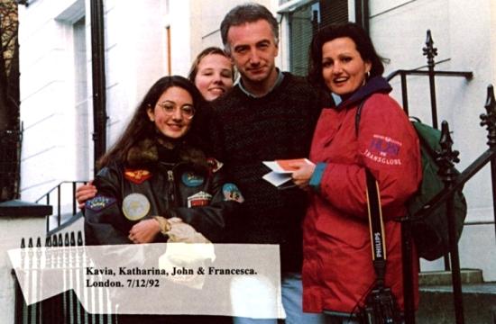 John Deacon with fans 1992