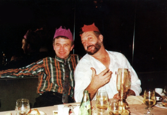 John Deacon with Gerry Stickels