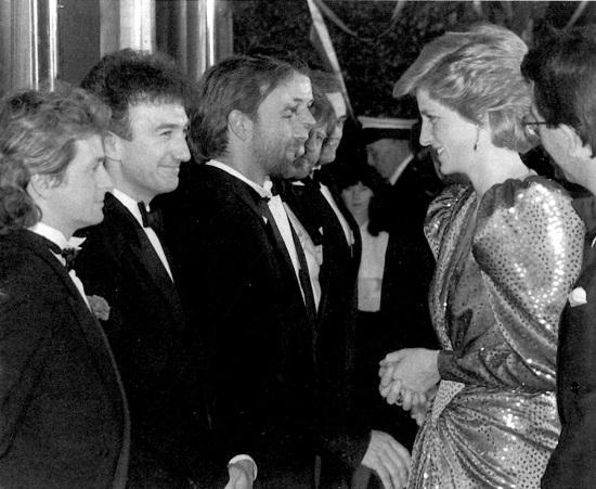 John meets Princess Diana , 1988