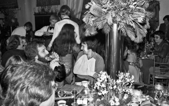 John with Gerry Stickles at party