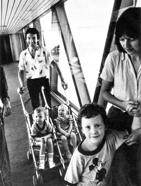 John with Veronica and kids