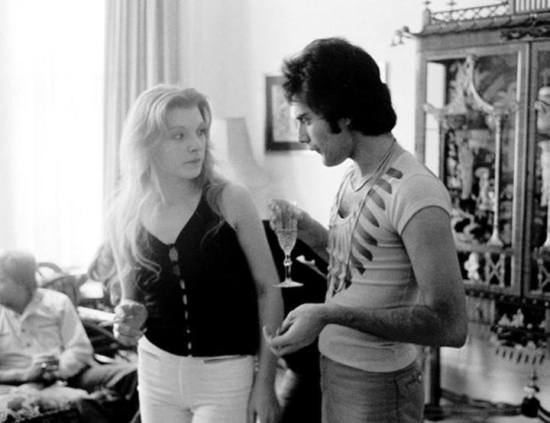 Mary Austin and Freddie Mercury, 1977