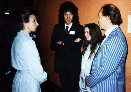 Princess Anne, Brian May, Chrissy Mullen and Jim Beach