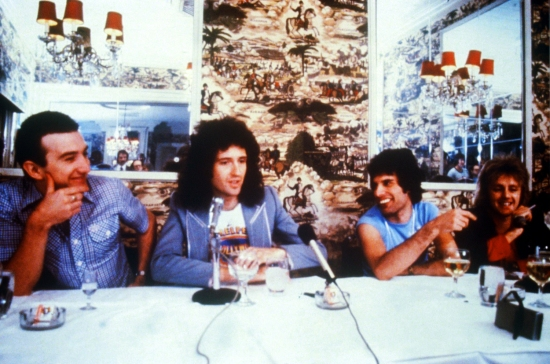 Queen give a press conference in New Orleans in November 1978. Photo by John Rodgers.