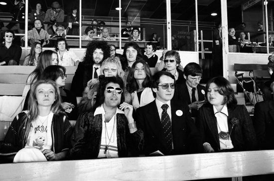 Queen, having a Day At The Races...promo day for the album launch in 1976