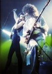 Queen live on stage on the UK mini tour in September 1976