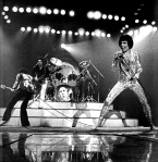 Queen on stage in 1977