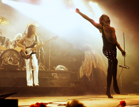 Queen on stage in 70's