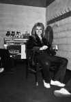 Roger Taylor backstage at the Montreal Forum, 26th January 1977