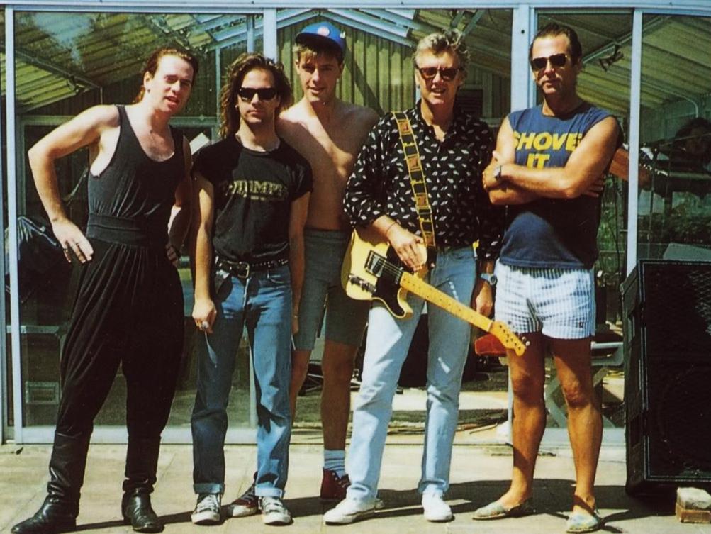 The Cross: Roger Taylor, Spike Edney, Clayton Moss, Peter Noone, Josh Macrae