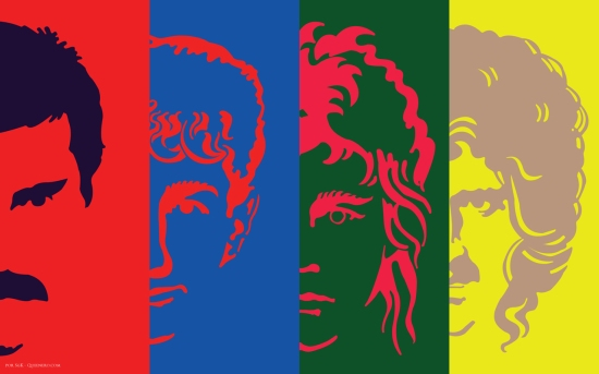 Queen Hot Space Wallpaper