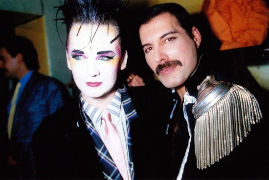 Boy George and Freddie Mercury, 1985