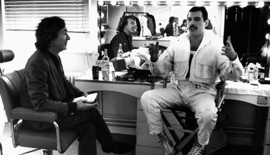 David Wigg and Freddie Mercury