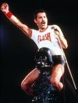 Freddie 'Flash' Mercury and Darth Vader