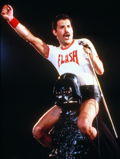 Freddie 'Flash' Mercury and Darth Vader