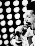 Freddie in early 80's on stage
