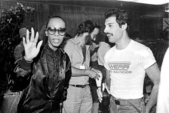 Freddie Mercury and Donna Summer in Inglewood 1980